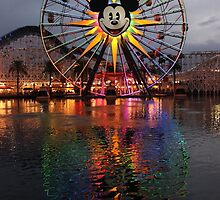 Mickey's Fun Wheel at Sunset by CarolynBurt