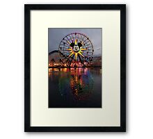 Mickey's Fun Wheel at Sunset Framed Print