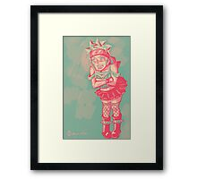 Naruto Dressed as a Punk Girl Framed Print