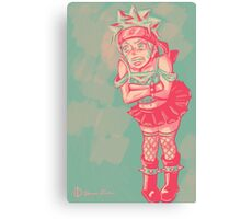 Naruto Dressed as a Punk Girl Canvas Print