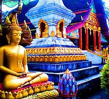 Wat Ansavanararm, Laos (high saturation) by Robert La Bua