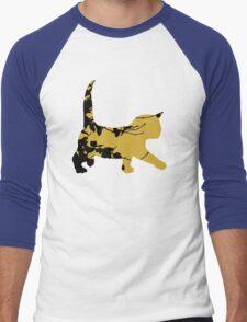 Shadow Creeping Kitten Men's Baseball ¾ T-Shirt