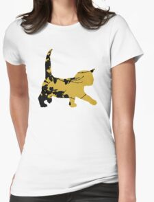 Shadow Creeping Kitten Womens Fitted T-Shirt