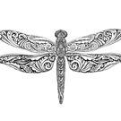 Hand drawing - Dragonfly by MaShusik