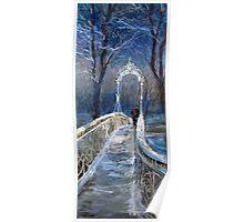 Germany Baden-Baden Winter Bridge Poster
