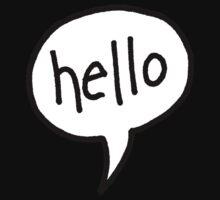 hello speech bubble by Wendy Massey