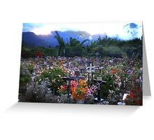 Cimetière Paysager, Hell-Bourg, Réunion Island Greeting Card