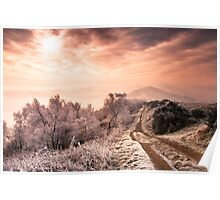Big Freeze - Winter morning on Malvern Hills Poster