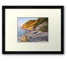 Morning light at the sea Framed Print