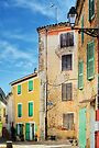 Colorful houses in Provence village by Patrick Morand