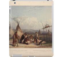 funeral-scaffold-of-a-sioux-chief-near-fort-pierre-plate-11-from-volume-2-of-travels-in-the-1844 iPad Case/Skin