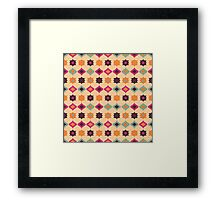 Seamless retro pattern geometrical vector texture Framed Print