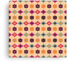 Seamless retro pattern geometrical vector texture Canvas Print