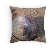 Sea Shell Snail Throw Pillow