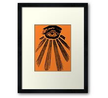 The All Seeing Eye. Framed Print