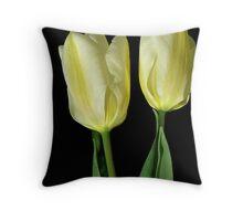 Tulip twins Throw Pillow