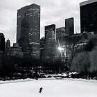 Lone Skater on Wollman Rink by Jeff Blanchard