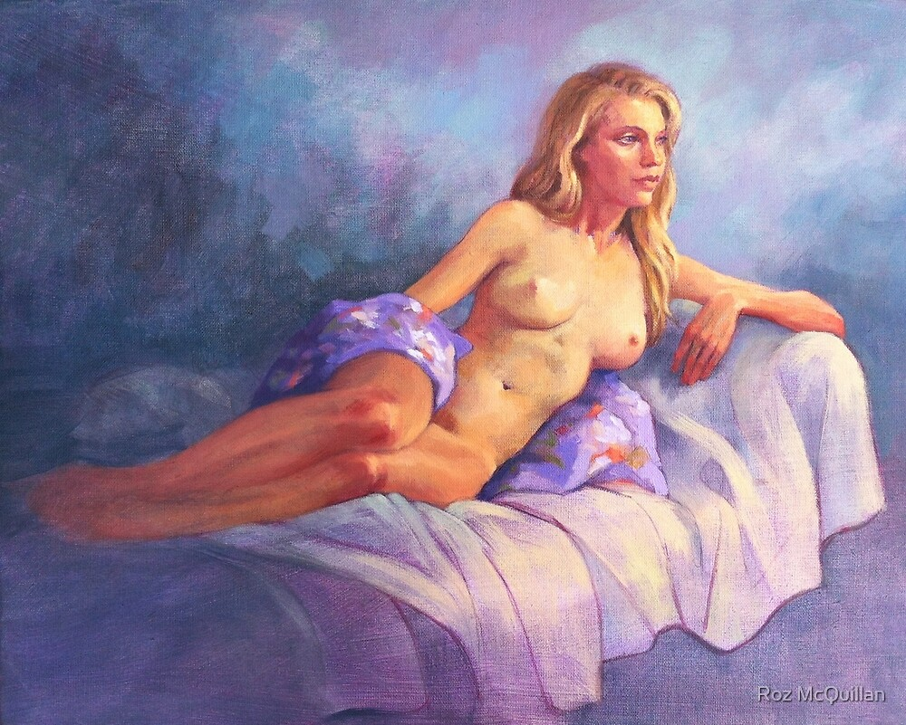 Joanna Reclining by Roz McQuillan