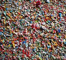 Market Theater Gum Wall (detail), Seattle by Robert La Bua