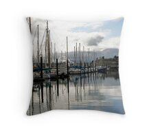 """Port Townsend Marina"" Throw Pillow"
