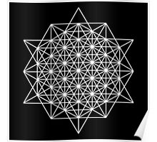 64 star tetrahedron sacred geometry  Poster