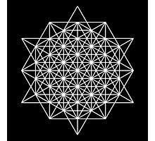 64 star tetrahedron sacred geometry  Photographic Print