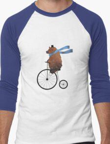 Cheltenham the Bear: Penny farthing fun Men's Baseball ¾ T-Shirt