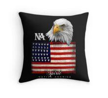 native american eagle Throw Pillow