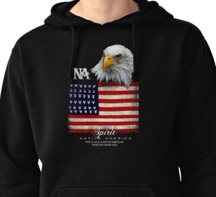 native american eagle Pullover Hoodie
