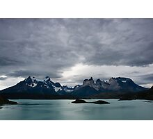 Torres del Paine cloudy evening Photographic Print