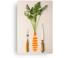 Sliced - Carrots Canvas Print
