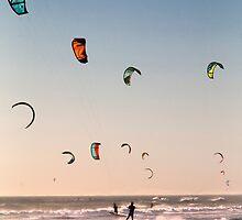 Kitesurfers Sunset World by SeeOneSoul