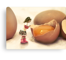 Mila and the Giant Egg Canvas Print