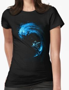 Space Surfing Womens Fitted T-Shirt