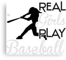 Real girls play baseball Canvas Print