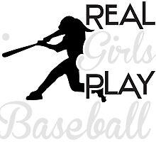Real girls play baseball Photographic Print