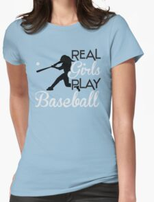 Real girls play baseball T-Shirt