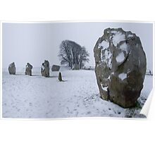 Avebury in the Snow Poster