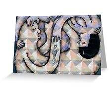 Twisted Love Graffiti Mural Greeting Card