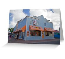 Shops in St Maarten, Caribbean Greeting Card