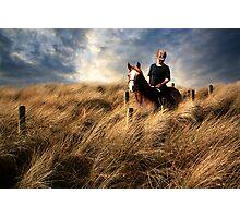 """Riding through a sea of grass"" Photographic Print"