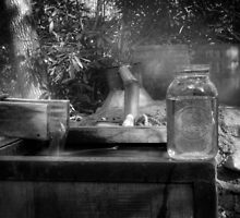 First Run Of Moonshine in Black and White by Greg and Chrystal Mimbs