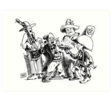 Printer Barbershop Quartet Art Print