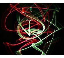 Dancing Glow Sticks Photographic Print