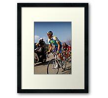 Alberto Contador, Paris-Nice 2009 Framed Print