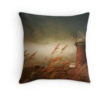 Horsey Mill, Norfolk Throw Pillow