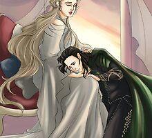 Frigga and Loki by uncreativeart