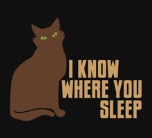I KNOW WHERE YOU SLEEP (cat) by jazzydevil