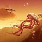 Flight of jellyfishes by tiphs