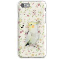 singing cockatiel iPhone Case/Skin